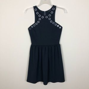 City Triangles Black Razorback Fit n Flare Dress